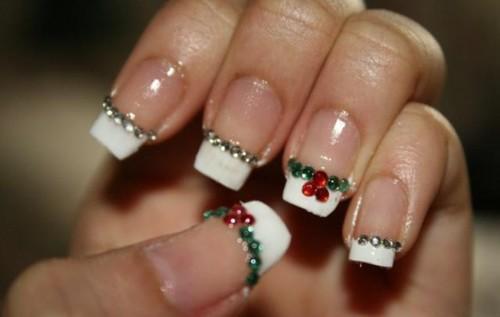 Easy-and-best-christmas-nail-art-design-christmas-french-manicure-with-rhinestone-nail-stickers-yilbasina-ozel-tasli-tirnak-yapistirmalari-ile-suslu-french-manikurlu-tirnaklar_large