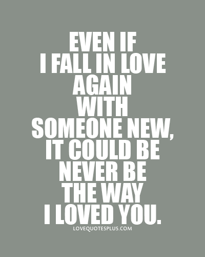 How Does One Fall in Love with Something Again?