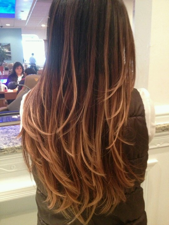 Ombre Hair Color Rich Dark Brown Milk Chocolate Brown Amp Honey Blonde