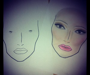 day makeup face charts
