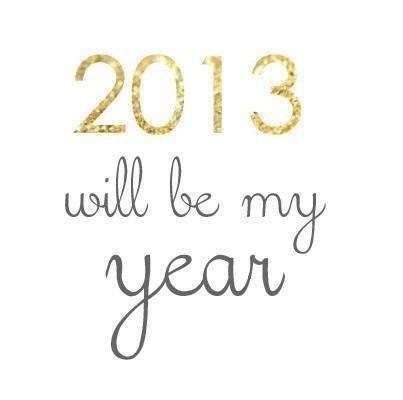New Year Resolutions of 2013