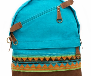backpack blue brown