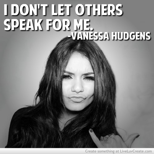 Group of: Vanessa Hudgens Actual Quote She Posted On Facebook A ...