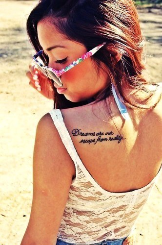 short quote tattoos for girls tumblr