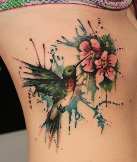Girl tattoo, Feminine tattoo, Female tattoo / Unique Hummingbird Tattoo