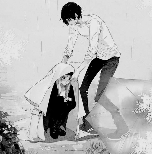 DorPsi Ships~! Anime-couple-black-and-white-boyfriend-illustration-Favim.com-594023_large