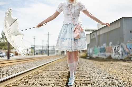 We heart it / Beautiful,Fashion,Lolita,Retro,Umbrella,Style,Teen