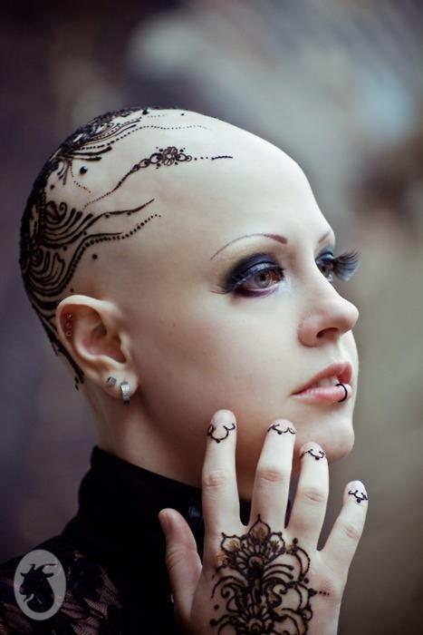bald head tattoo tumblr