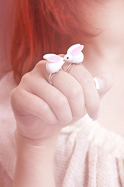 ARN0007 2 large ROMWE | Lovely Rabbit Ring, The Latest Street Fashion