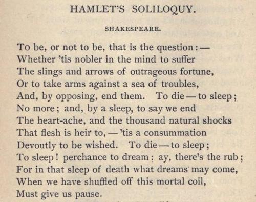 antithesis in to be or not to be soliloquy A concise definition of soliloquy along with usage tips, an expanded explanation, and lots of examples.