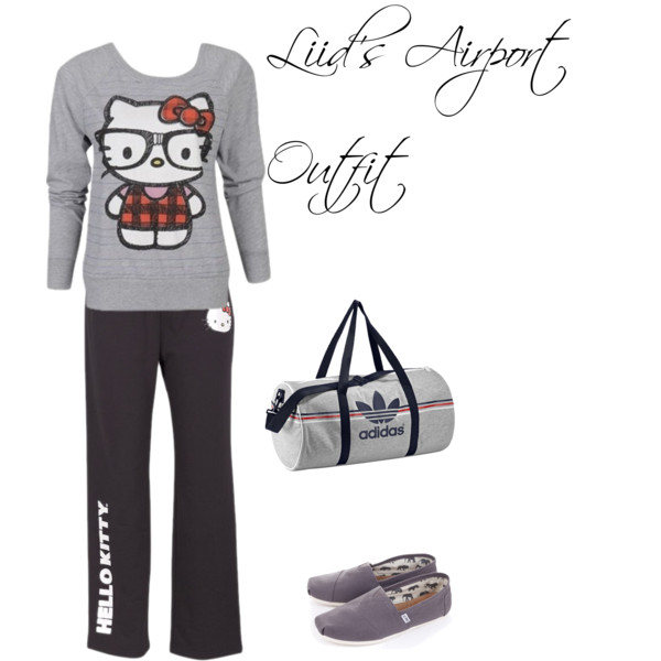 Liidu0026#39;s Airport Outfit - Polyvore | We Heart It | hello kitty