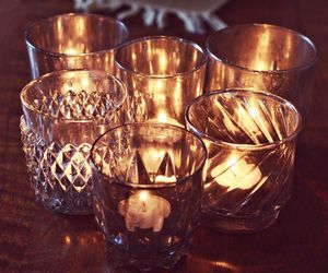 fire decor cups candle