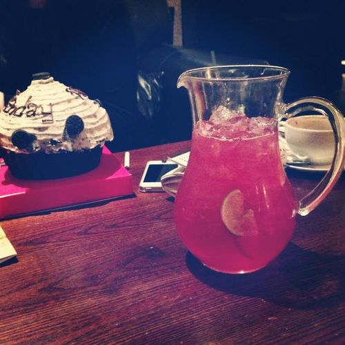 GLITA — birthday pitcher & cake fo me woop woop