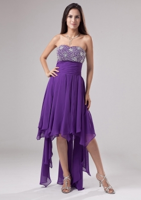 Lovely Purple Prom Dress Strapless Beaded Decorate and Ruch In 2013 - US$142.36