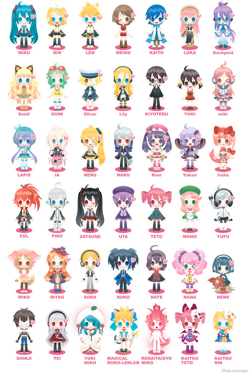 Anime Characters Named Rin : Different types of vocaloids utauloid and vocaloid we
