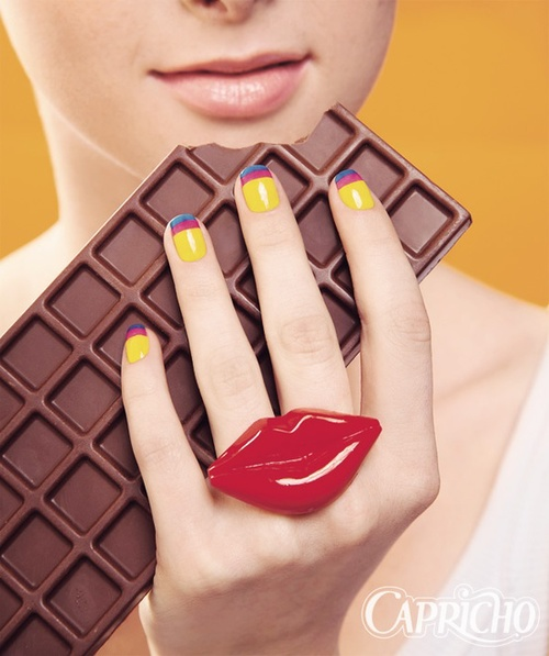Cute! / Nail art e chocolate, hummm