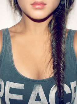 Girl fishtail braid