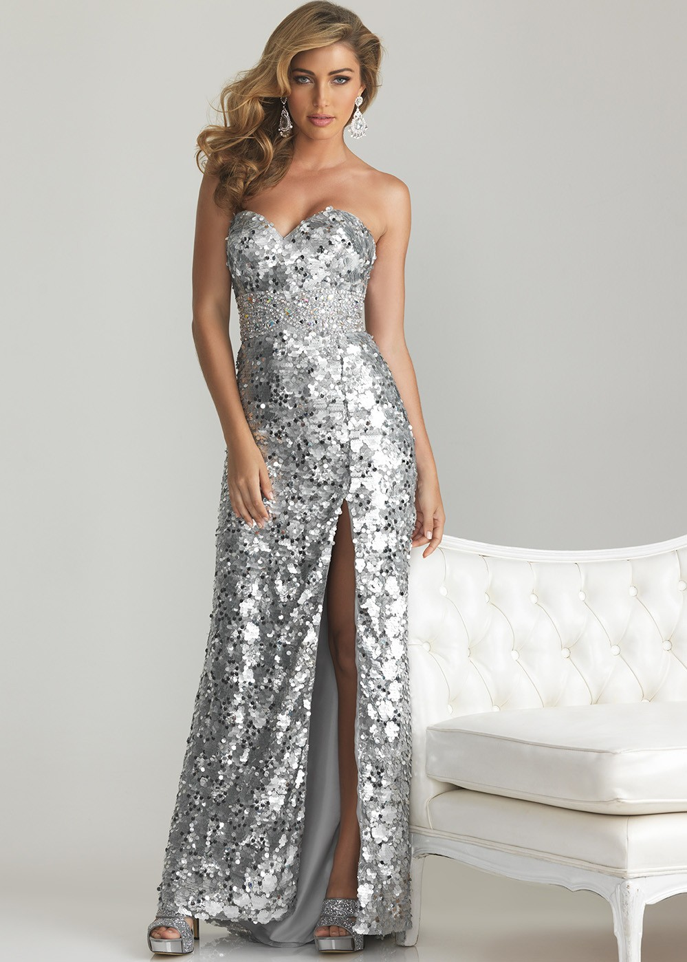 Silver Homecoming Dresses