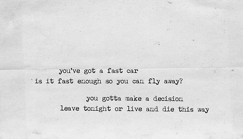 Fast Car Tracy Chapman Lyrics Group of fast car tracy