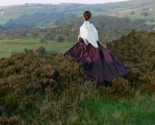 Ateliers webshot purple victorian skirt Yorkshire moors,Keighley ,Abigail on Flickr - Photo Sharing!