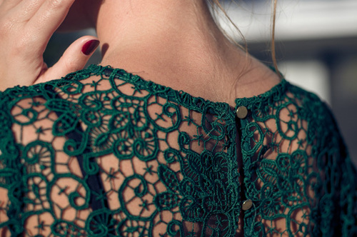 Emerald-green-lace-top-zara-golden-buttons_large