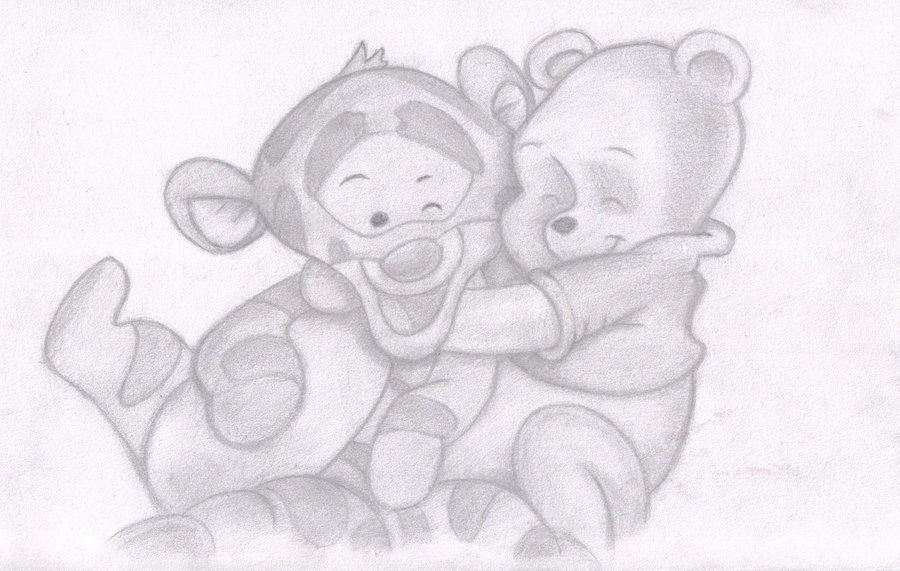 Baby Winnie The Pooh And Tigger