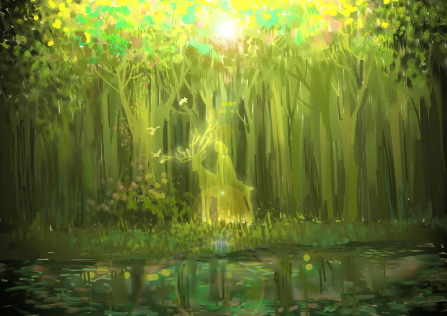 Anime forest spirit scenery wallpaper this is one pretty - Anime forest background ...