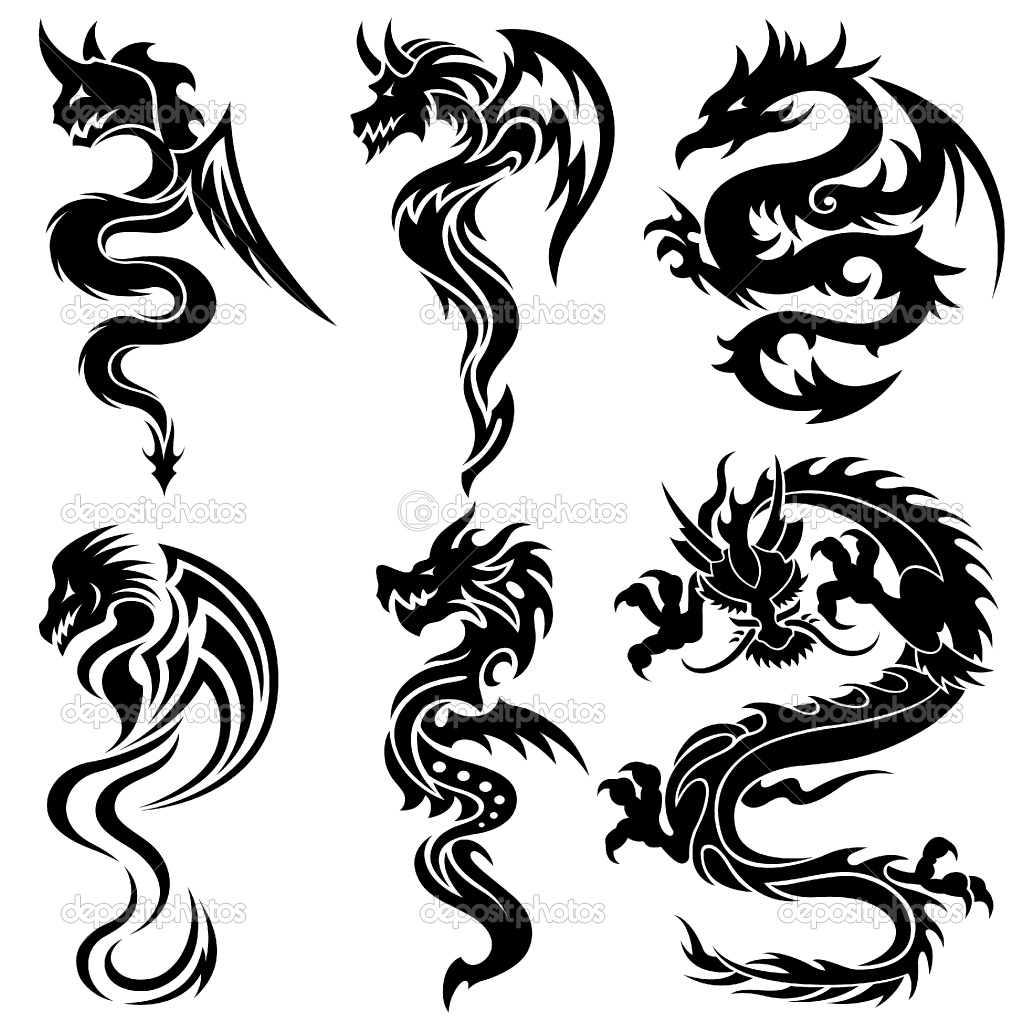 Dragon vector sign stock vector 313643336 shutterstock - Group Of Chinese Dragon Simple Chinese Dragon Tattoo