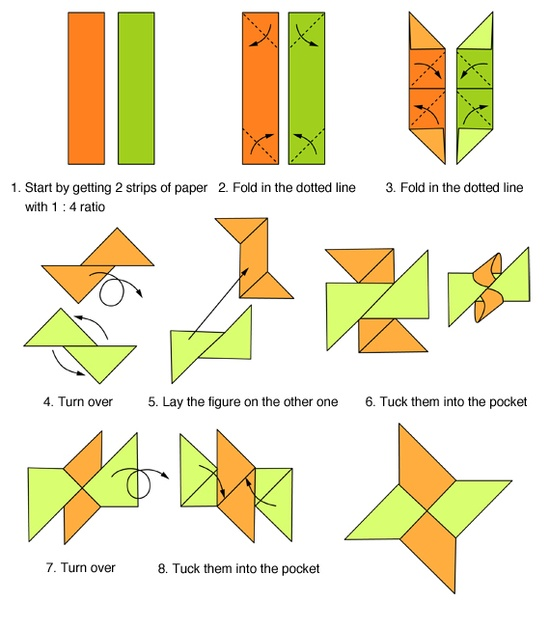 Origami ninja star folding instructions origami for How to make a star with paper step by step