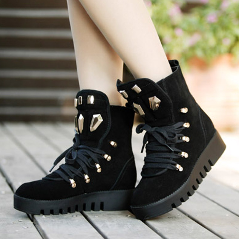 Fess Shipping Fashion Female Korean Style Bowknot High-top Canvas Women Girl Shoes Sneakers WIth