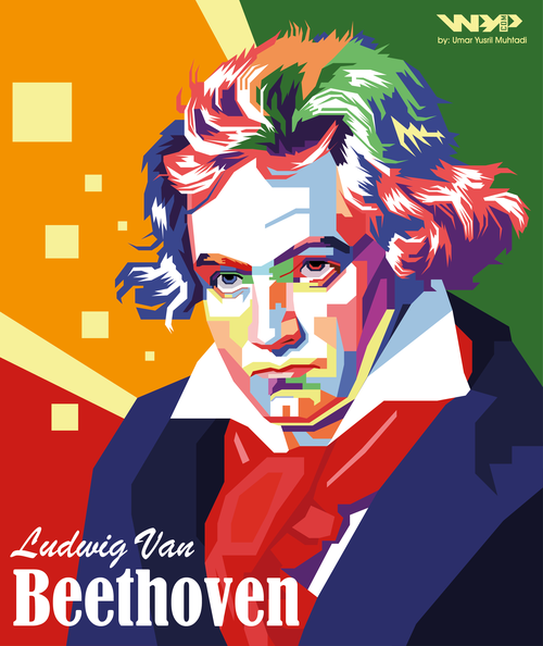 Beethoven in WPAP by ~Yusrielo on deviantART