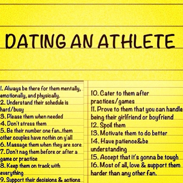 Dating An Athlete