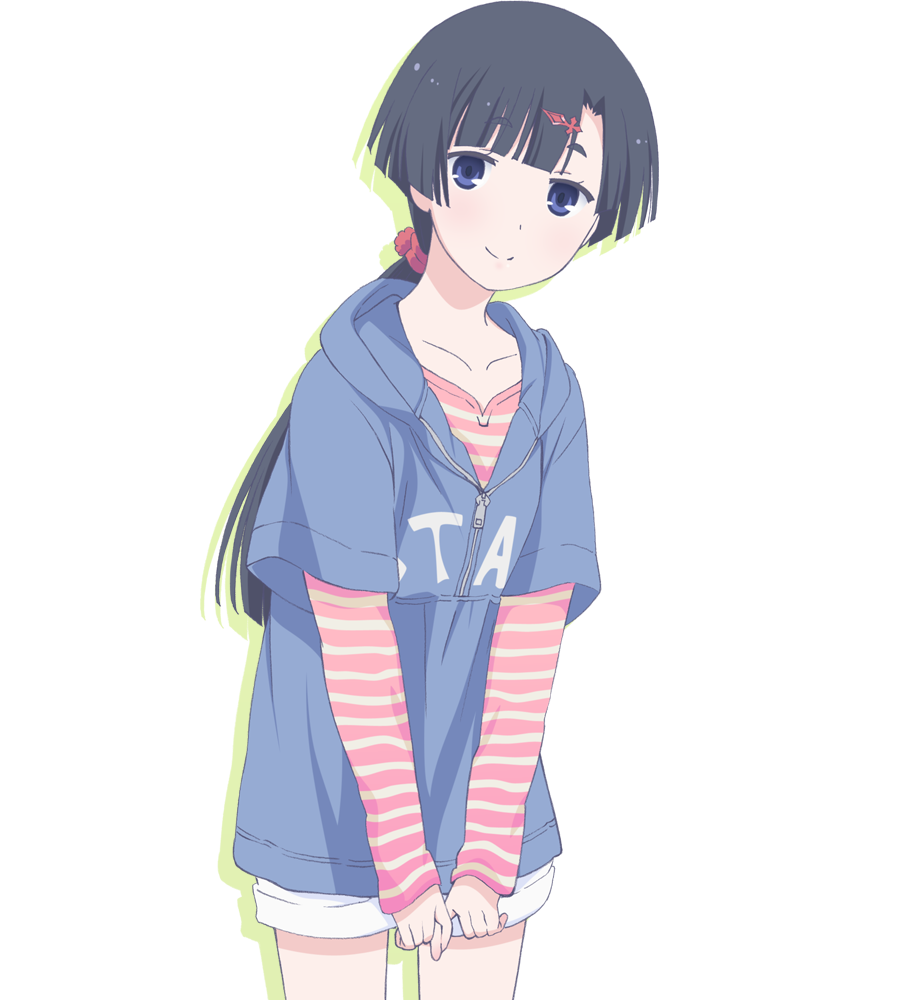1girl, akishino himeka, black hair, blue eyes, hair ...