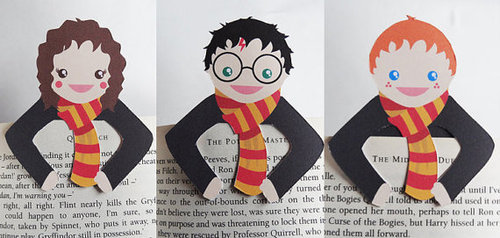Bookmark buddies Set of 3 van bethydesigns op Etsy