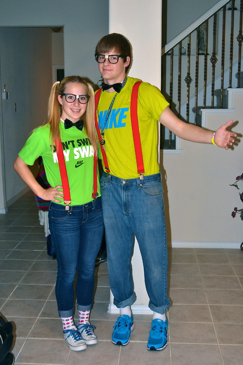 nerds twin day best friends guy girl friends nike glasses nerd hipster cute style. Black Bedroom Furniture Sets. Home Design Ideas
