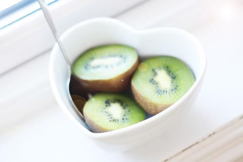kiwi, heart, cup