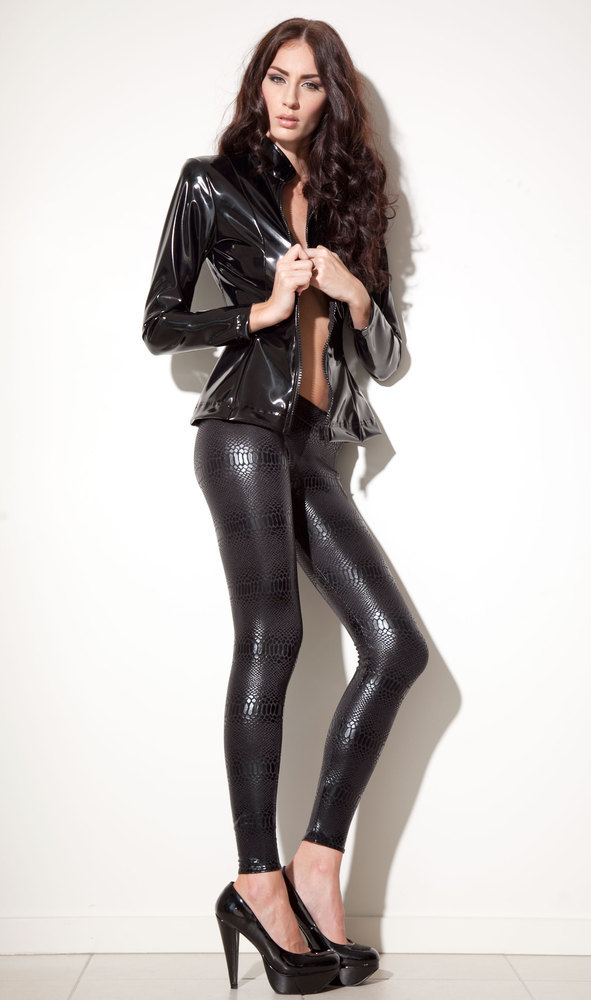 Shiny Leggings Black