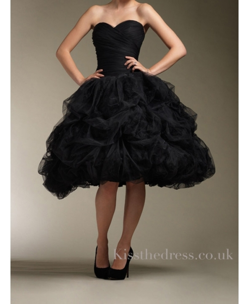 Vintage-tulle-black-knee-length-wedding-dress-wd058_large