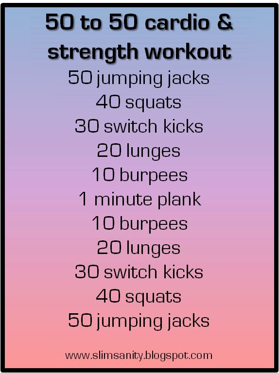 Simple Cardio Workout Schedule
