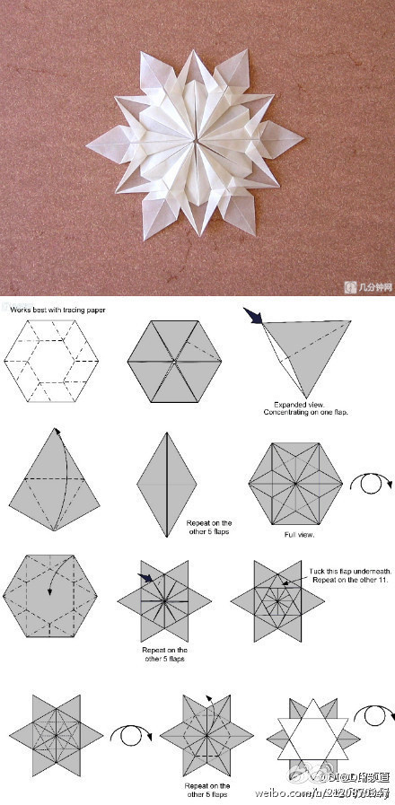 origami snowflakes folding instructions