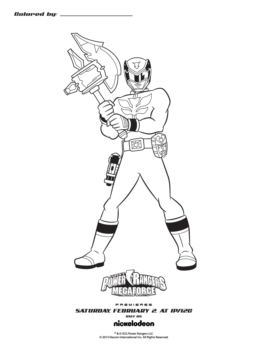 Coloring Pages Power Rangers Samurai Free Image