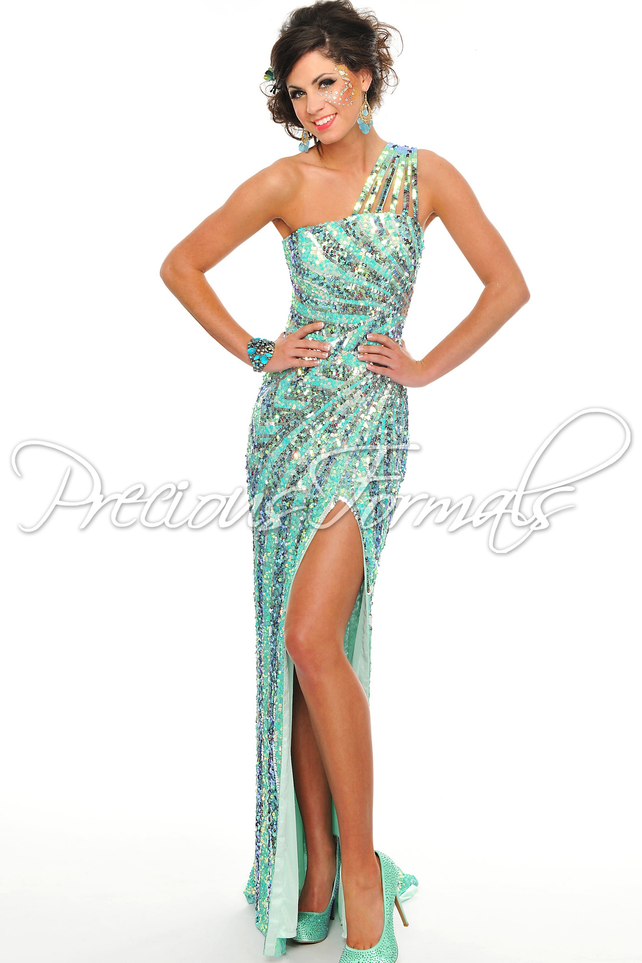 All Sequin Prom Dresses