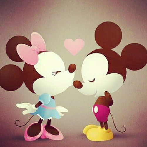 Minnie and mickey by marte natalie we heart it - Dessin mickey swag ...