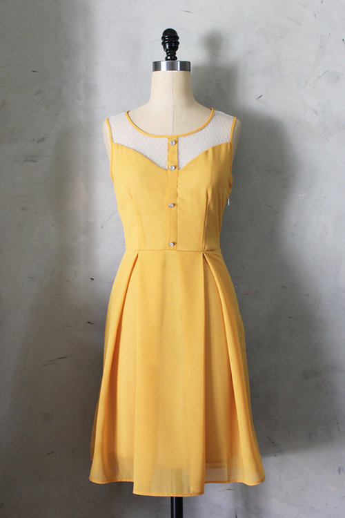 il 570xN.433286548 rr80 large PETIT JARDIN MUSTARD yellow dress with white by FleetCollection