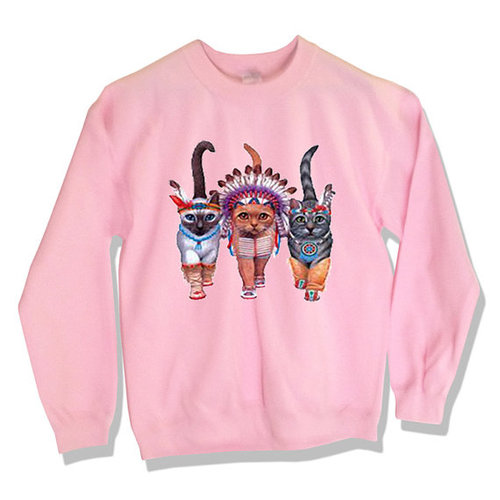 il 570xN.436280863 7r3y large Native American Indian Cats Sweater by MindfulWear on Etsy