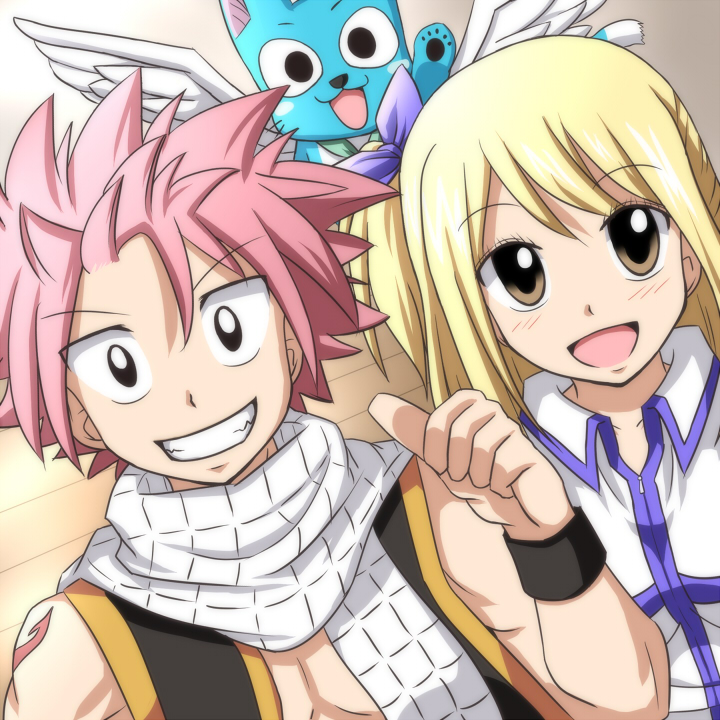 Group Of Natsu Lucy And Happy