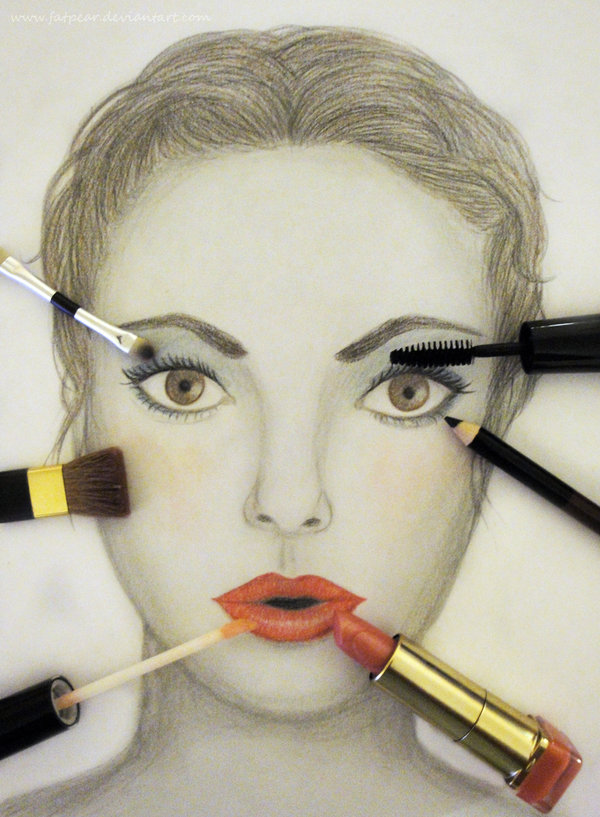 Makeup Drawing: Draw On My Makeup By ~fatpear On DeviantART
