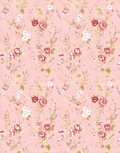 Pink Vintage Floral Wallpaper