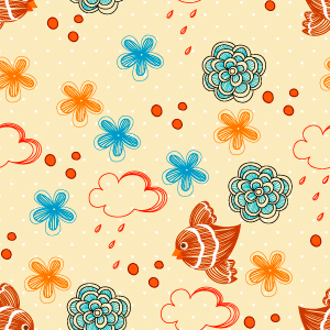 Free Vector Seamless Floral Pattern background