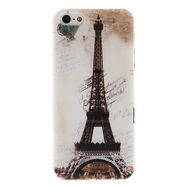 Hard Case Back Cover with Relief Style Tower Pattern for iPhone 5 - Cheap iPhone Cases - iPhone Cases